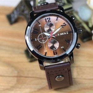 Other - MENS CHRONOGRAPH WATCH NEW LEATHER